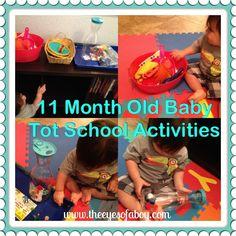 11 month old Tot School Activities