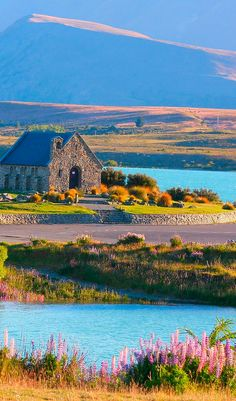 The beautiful Church of the Good Shepherd is found on the shores of Lake Tekapo on New Zealand's South Island #NZ