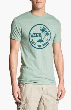 0098c3f3a25124 Vans  Off the Wall Palm Logo  Graphic T-Shirt