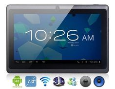 """7"""" dual camera Capacitive Google Android A13 MID WIFI PAD Tablet PC Netbook Notebook 4GB WT. keyboard included(free). white, black, red, pink available. 100% new, unused, unopened and undamaged item in original retail packaging. Google Android V4.0.3 Ice Cream Sandwich. Email me what color do you like."""
