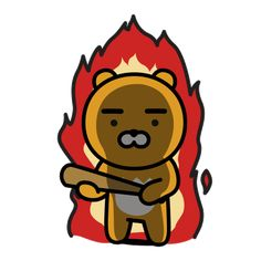 The perfect Kakao Anger Angry Animated GIF for your conversation. Discover and Share the best GIFs on Tenor. Hamsters, Ryan Bear, Kakao Ryan, Gifs Lindos, Gugu, Kakao Friends, Friends Wallpaper, 1 Gif, Mascot Design