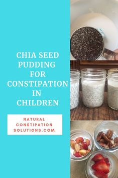 Chia Pudding for fiber, magnesium and Constipation relief. Chia is an excellent source of fiber, which can help with constipation, plus it has magnesium which most of us are deficient in. Magnesium is a superpower for constipation relief. Kids Constipation, Constipation Problem, Constipation Remedies, Chia Pudding, Organic Maple Syrup, Natural Colon Cleanse, Substitute For Egg, Kids Diet, Kid Friendly Meals