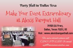 Greater Dallas Hotel Alexis Park Central features finest Party halls in Dallas Texas perfect for corporate events, birthday parties, anniversaries, reunions. Hotel Website Design, Dallas Hotels, Table Overlays, Dallas Wedding, Family Events, Dallas Texas, Banquet, Corporate Events, Wedding Events