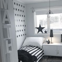Black and White Bedroom Valentines Day For Him, Kids Decor, Home Decor, White Bedroom, Kidsroom, Kids Bedroom, Most Beautiful Pictures, Baby Room, Activities For Kids