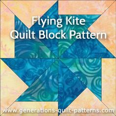 Learn to make a Flying Kite quilt block. Free downloadable paper piecing pattern and step-by-step instructions.