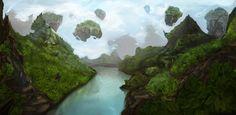 Dream Island, Fabio Madeddu on ArtStation at https://www.artstation.com/artwork/oRKYO
