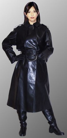 Raincoats For Women Hoods # - Best Leather Jacket Black Raincoat, Raincoat Outfit, Hooded Raincoat, Long Leather Coat, Leather Trench Coat, Leather Gloves, Trench Coats, Black Leather, Black Rain Jacket