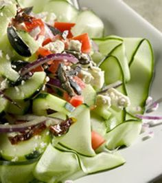 There are only 5 ingredients in this delicious Mediterranean Greek Salad!