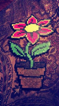 Image result for hard perler beads flower