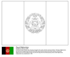 Flag Of Afghanistan Coloring Page From Asian Flags Category