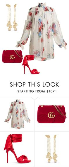 """""""Untitled #1976"""" by styledbytjohnson on Polyvore featuring Dolce&Gabbana, Gucci and Christian Louboutin"""