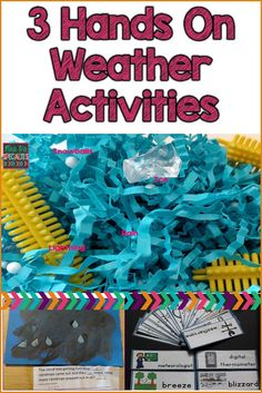 Hands on Weather Activities that will keep your students engaged and focused on learning. Best yet, these ideas can easily be applied to any theme you are doing with your classroom!