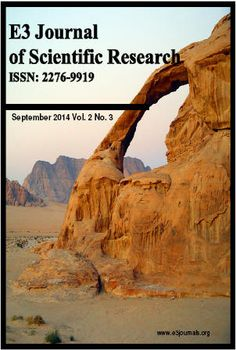 E3 Journal of Scientific Research- Indexed by EIJASRE3 Journal of Scientific Research (EJSR) is an open access journal that provides rapid publication (monthly) of articles in all areas of the subject.The Journal welcomes the submission of manuscripts that meet the general criteria of significance and scientific excellence. Papers will be published approximately one month after acceptance.  For more details : http://www.eijasr.com/indexing-journals/113/E3-Journal-of-Scientific-Research.html