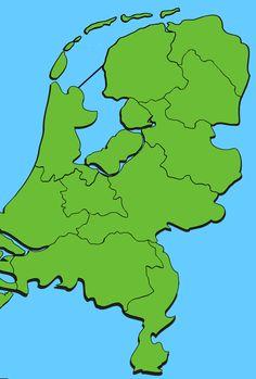 Topografie van Nederland: provincies