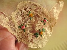 ANTIQUE SILK FRENCH LACE!