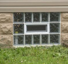 Glass block windows entrance and locks on pinterest for Glass block window frame