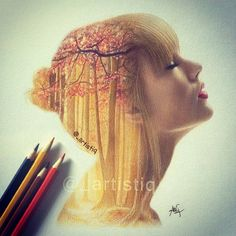 """Taylor swift, drawn with colored pencils. ❤ this was inspired by the """"style"""" music video. please tag her! Taylor Swift Drawing, Taylor Swift Fan, Taylor Swift Pictures, Architecture Art Design, Taylor Swift Wallpaper, Design Tattoo, Celebrity Drawings, To Infinity And Beyond, Double Exposure"""