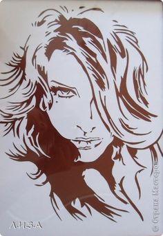 Портрет девушки Вытынанка