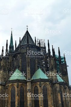 Detail of St.Vitus Cathedral, Prague foto stock royalty-free