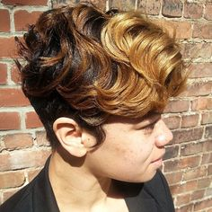 STYLIST FEATURE  Love this #pixiecut✂️ done by #BrooklynStylist @ohdiane_hairGorgeous color and chic cut #VoiceOfHair ========================= Go to VoiceOfHair.com ========================= Find hairstyles and hair tips! =========================