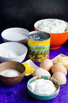 Pasca fara aluat - Din secretele bucătăriei chinezești Jacque Pepin, Pavlova, Easy Desserts, Food To Make, Panna Cotta, Cheesecake, Deserts, Gluten, Tropical