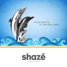 These cheerful silver dolphins will fill your heart with delight   and remind you of the playful way in which they navigate through the cool blue ocean.    View Our Décor Collection at www.shaze.in