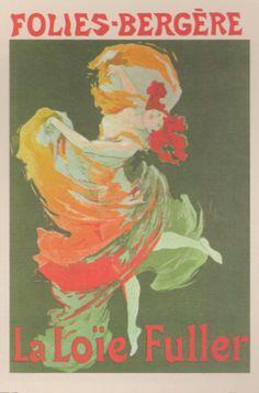 Fashion Girl Dance Dancing La Loie Fuller Folies Bergere Vintage Wall Decor Art Print Poster.