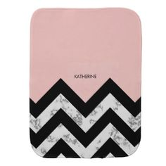 94a84b3a19 Black White and Pink Chevrons Baby Burp Cloth