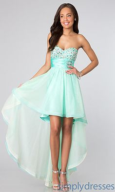 Strapless High Low Dress for Prom at SimplyDresses.com