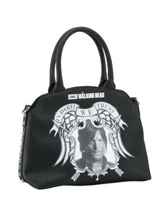 AMC Walking Dead Trust in Daryl Studded Handbag Purse by Rock Rebel in Black Vegan Handbags, New Handbags, Black Handbags, Purses And Handbags, Pin Up Shoes, Fendi, Gucci, Amc Walking Dead, Tattoo Clothing