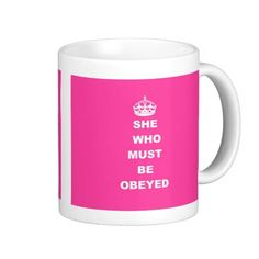 >>>The best place          She who must be obeyed mugs           She who must be obeyed mugs in each seller & make purchase online for cheap. Choose the best price and best promotion as you thing Secure Checkout you can trust Buy bestDiscount Deals          She who must be obeyed mugs today...Cleck Hot Deals >>> http://www.zazzle.com/she_who_must_be_obeyed_mugs-168788311751087098?rf=238627982471231924&zbar=1&tc=terrest