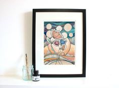 Night Blossom A4 Giclee Fine Art Print by JessicaWildeDesigns
