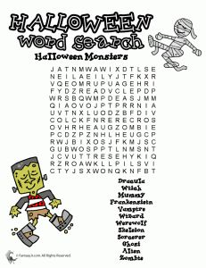 halloween word search printables pinned by pediastaff visit http - Halloween Word Game