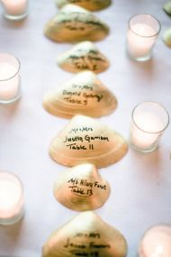 Great idea for a beach wedding.  Cape Cod Wedding | Style Me Pretty