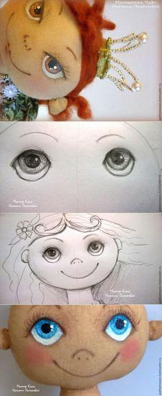 Más información sobre cómo reactivar la muñeca textil: Pintura de la cara