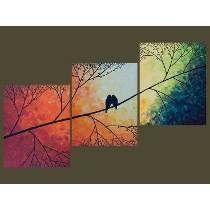 Cuadros Modernos Tripticos Aves Living Habitacion Sillon