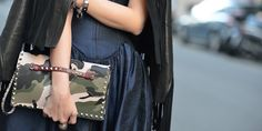 The fashion crowds have migrated to Milan for the Spring 2014 shows. On the streets, Italian elegance and ladylike looks with a twist on accessories are what editors and bloggers a...