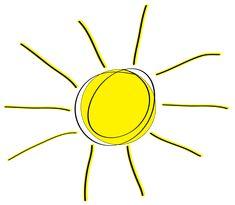 sun art | Squiggle Sun Clip Art