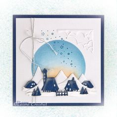 #leanecreatief | leabilitie 45.1192 Landscape Houses | stempel 55.1277 In the Air Christmas Ideas, Christmas Cards, Paper Crafts, Houses, Landscape, Cards, Stamps, Projects, Christmas