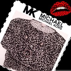 """MICHAEL KORS NWT Leopard Butterfly Wings Top Large Brand new with tags Michael Kors black and white leopard spot elasticized waist band and butterfly winged too, size large.  95% rayon, 5% spandex.  Measurements:  shoulders-21"""", bust-25"""" across, length-23"""". MICHAEL Michael Kors Tops"""