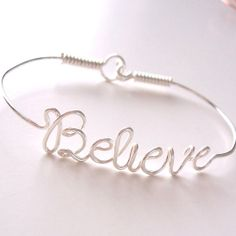Wire Name Bracelet with your favorite NAME or WORD . Name Bracelet . Personalized Bracelet . Wire Name Jewelry on Wanelo