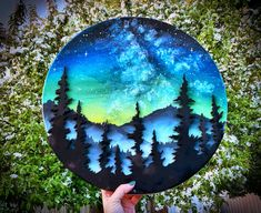 Small Canvas Paintings, Small Canvas Art, Cool Paintings, Circle Canvas, Circle Art, Stone Painting, Painting & Drawing, Painting Inspiration, Art Inspo