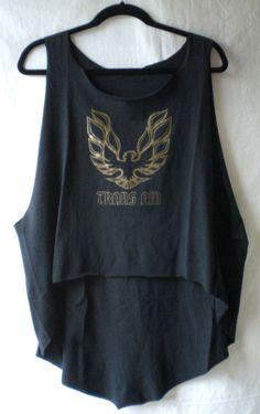 firebird trans am DIY high-low tunic tee tank top vintage muscle car t-shirt