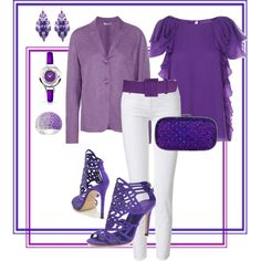 """VIOLET nights"" by tezza630 on Polyvore  ROYGBIV Collection - 01.27.2013"