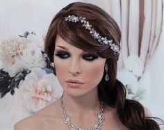 SALE Vine Wedding Crystal Beaded Hair by EleganceByKate on Etsy