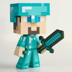 J!NX : Minecraft Diamond Steve Vinyl - Clothing Inspired by Video Games & Geek Culture