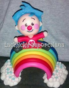 Payaso Plim plim adorno de torta en porcelana fria