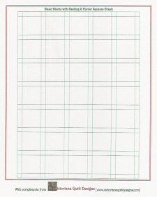 Printable Basic Quilt Layout and other printable quilt graph paper