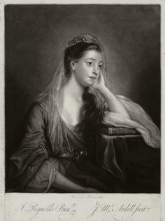 Portrait of Hannah Horneck. James McArdell. Mezzotint by James McArdell after the painting by Sir Joshua Reynolds.