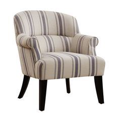 A classic arm chair is always in style. This one takes its cue from traditional chairs in an updated way with clean lines, tape support and comfort.